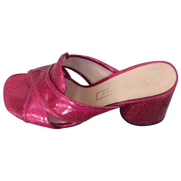 Marc Jacobs Pink Patent Leather Sandals