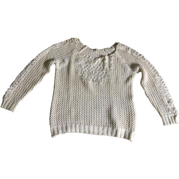 Maje White Cotton Knitwear