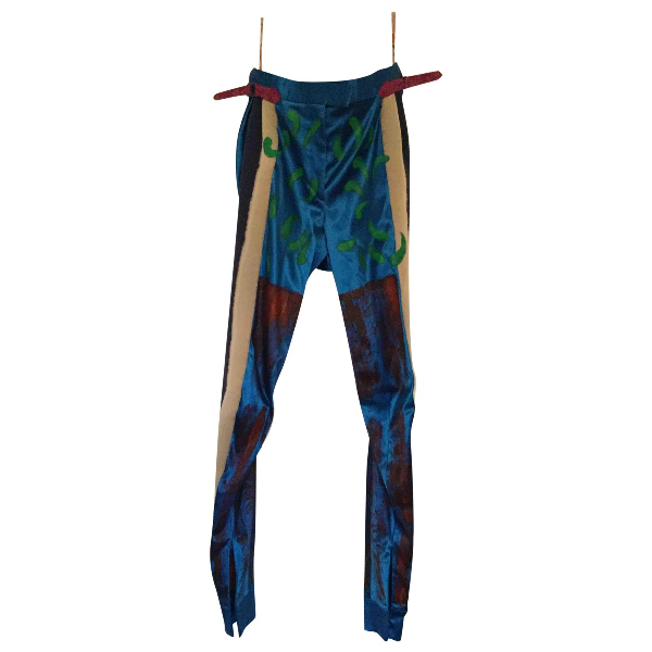 Vivienne Westwood Blue Silk Trousers