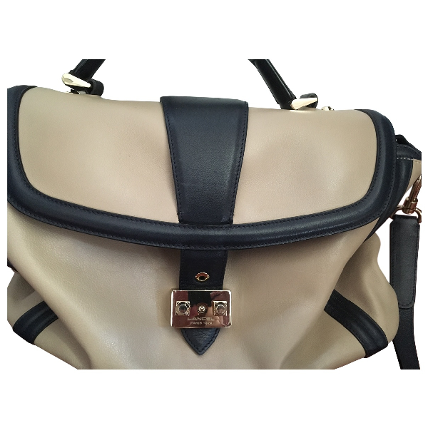 Lancel Beige Leather Handbag