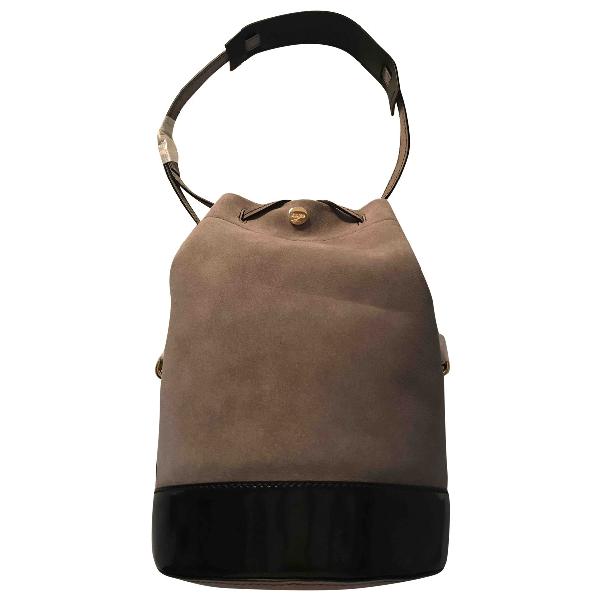 Kenzo Grey Leather Handbag