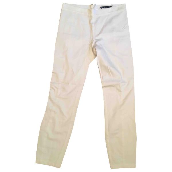 Polo Ralph Lauren White Cotton Trousers