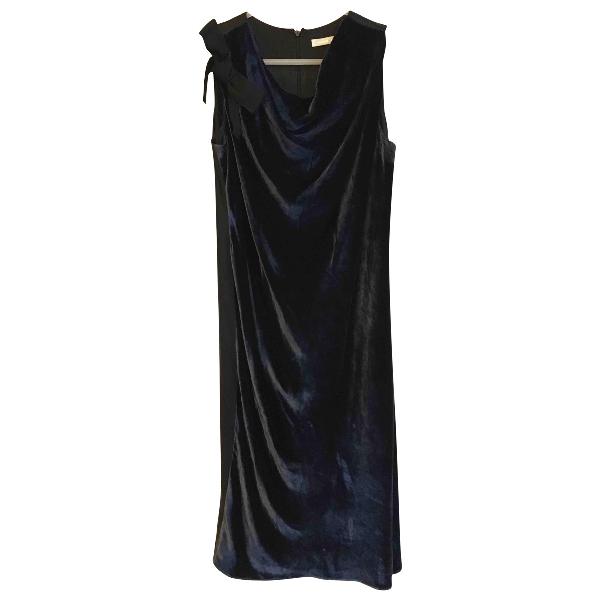 Paule Ka Navy Velvet Dress