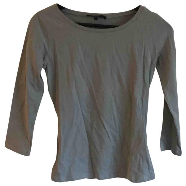 Max Mara Grey Cotton  Top