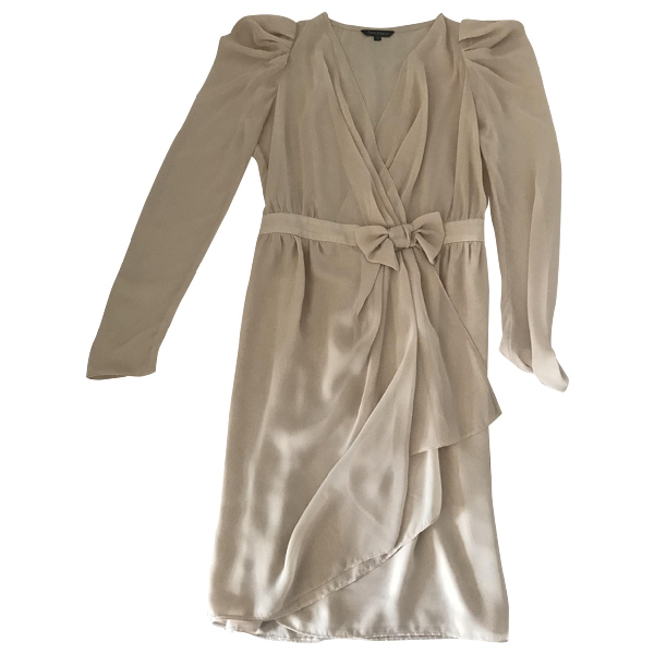Tara Jarmon Beige Silk Dress
