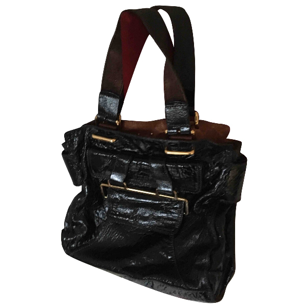 ChloÉ Black Patent Leather Handbag