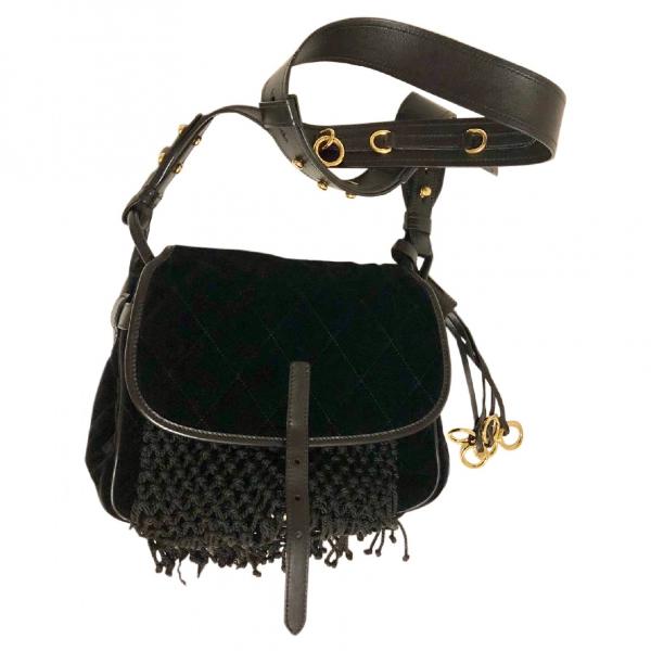 Prada Corsaire Black Leather Handbag