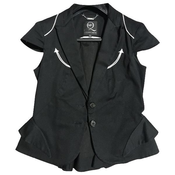 Mcq By Alexander Mcqueen Black Cotton Jacket