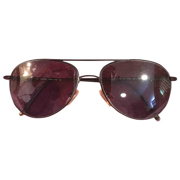 Valentino Black Metal Sunglasses