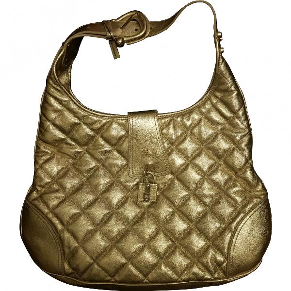 Burberry Gold Leather Handbag