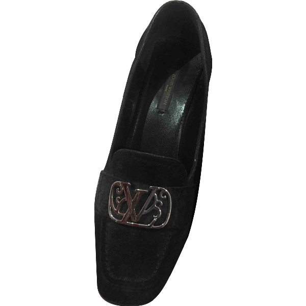 Louis Vuitton Anthracite Suede Flats
