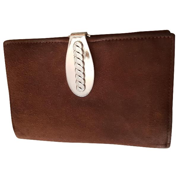 Loewe Brown Suede Wallet