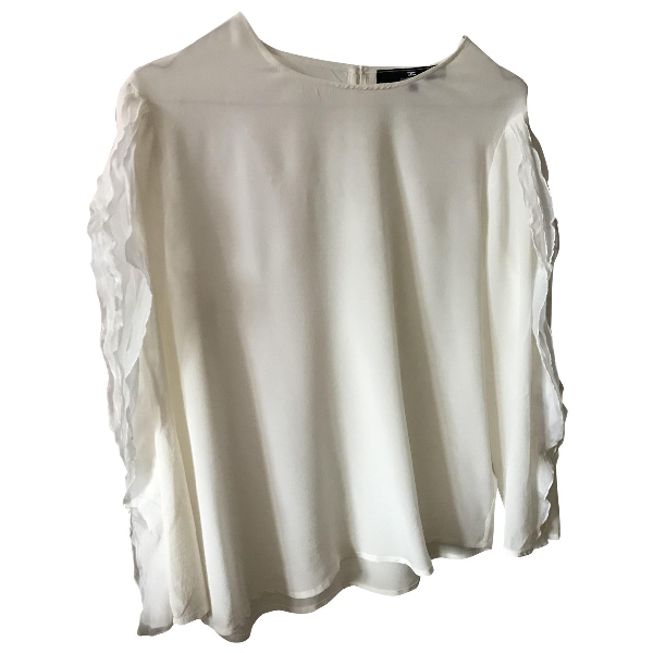 Elisabetta Franchi White Silk  Top