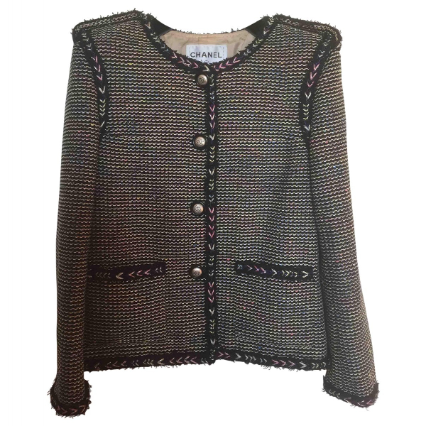 Chanel Navy Tweed Jacket