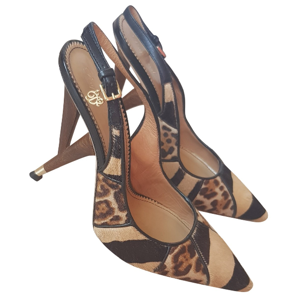 Dsquared2 Camel Leather Heels