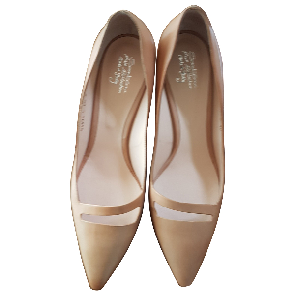 Lanvin Beige Leather Heels