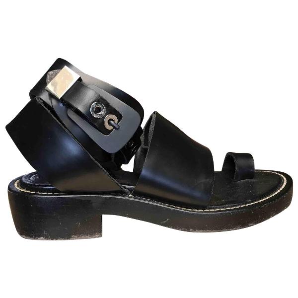 Balenciaga Black Leather Sandals