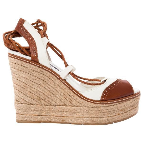 Ralph Lauren Camel Leather Sandals