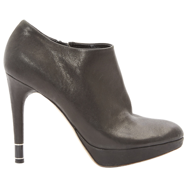 Dior Black Leather Ankle Boots