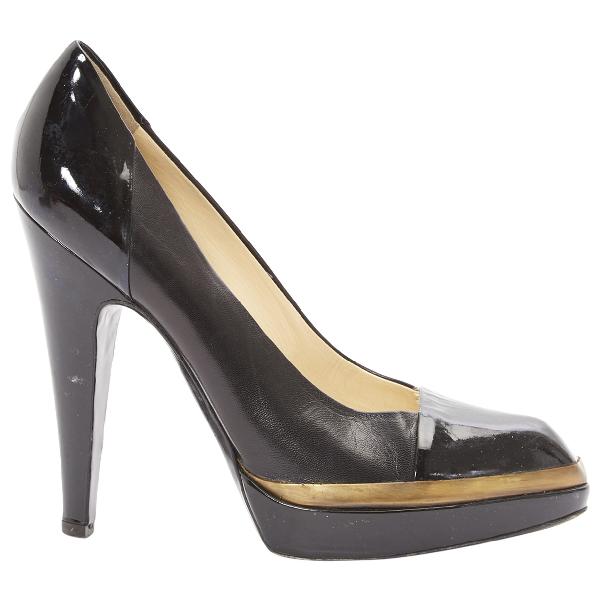 Saint Laurent Black Patent Leather Heels