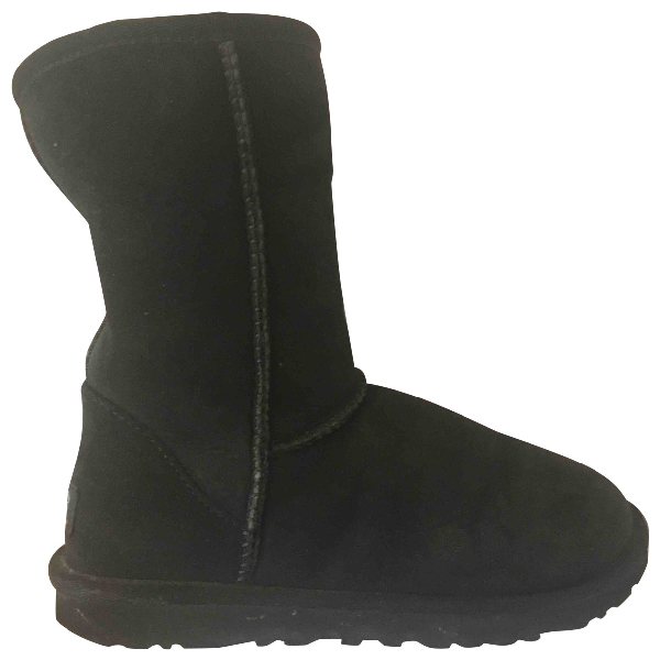 Ugg Black Suede Ankle Boots