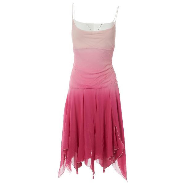 Diane Von Furstenberg Pink Silk Dress