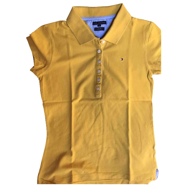 Tommy Hilfiger Yellow Cotton  Top
