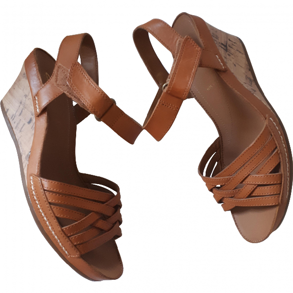 Clarks Beige Leather Sandals