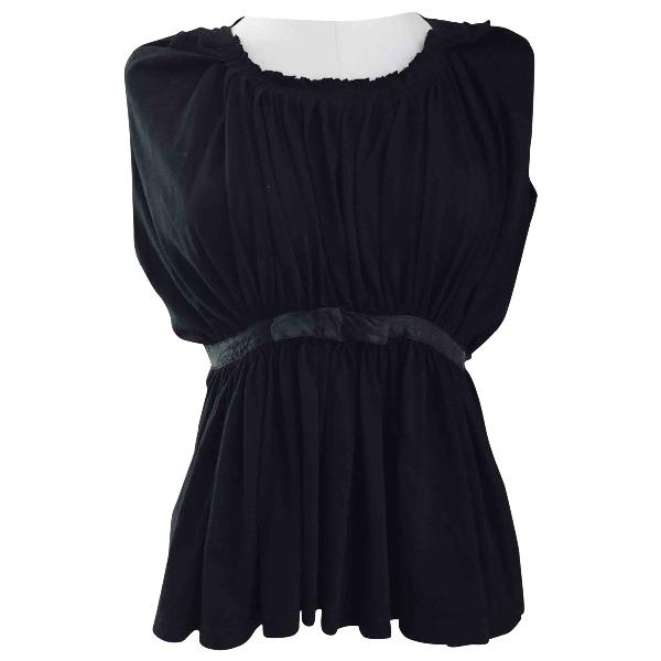 Balenciaga Black Cotton  Top