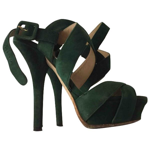 Dolce & Gabbana Green Suede Sandals