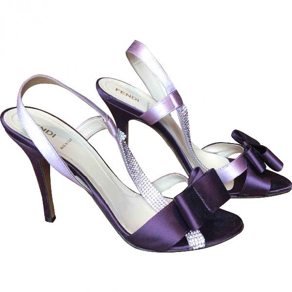 Fendi Purple Cloth Sandals
