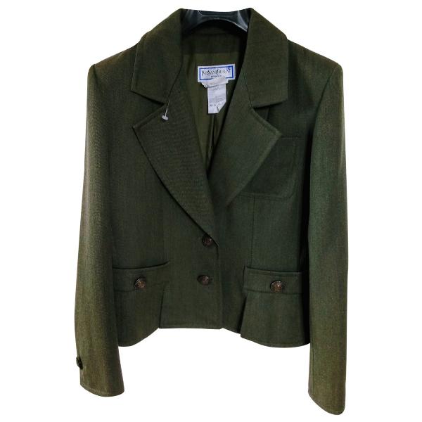 Saint Laurent Khaki Wool Jacket