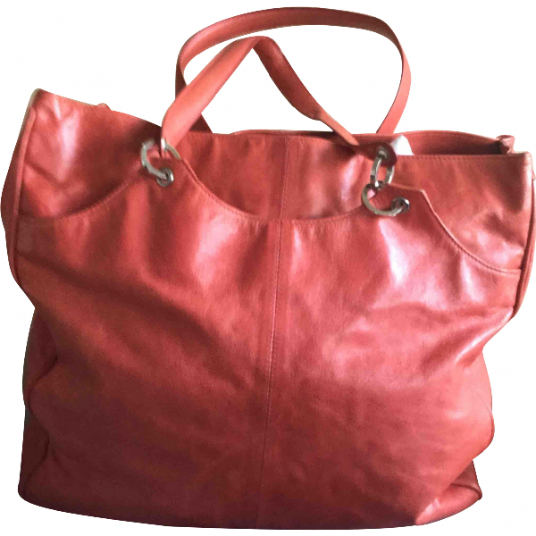 Balenciaga Red Leather Handbag