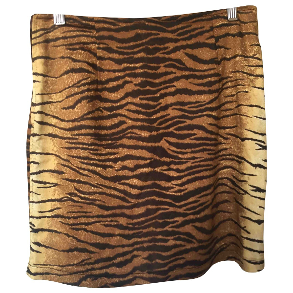 Moschino Cheap And Chic Gold Skirt