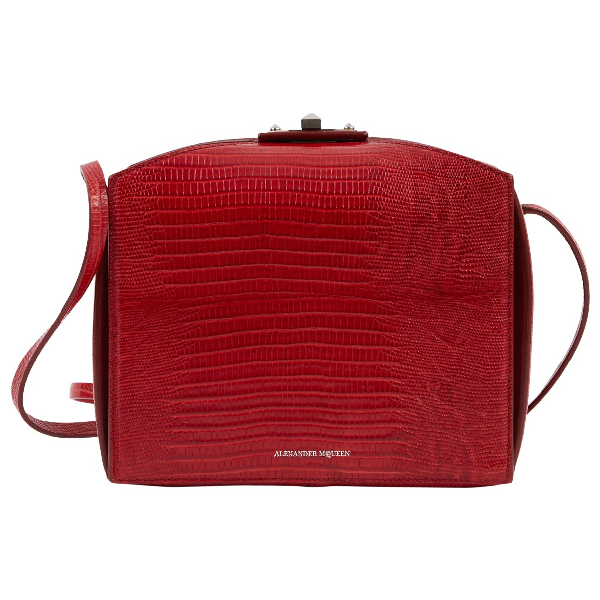 Alexander Mcqueen Red Leather Handbag