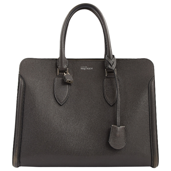 Alexander Mcqueen Grey Leather Handbag