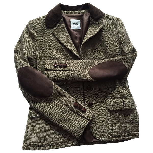 Moschino Cheap And Chic Brown Wool Jacket