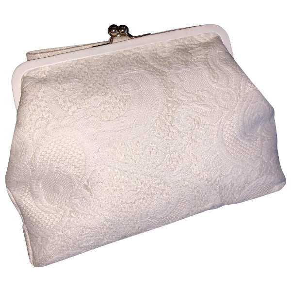 Dolce & Gabbana White Cotton Clutch Bag