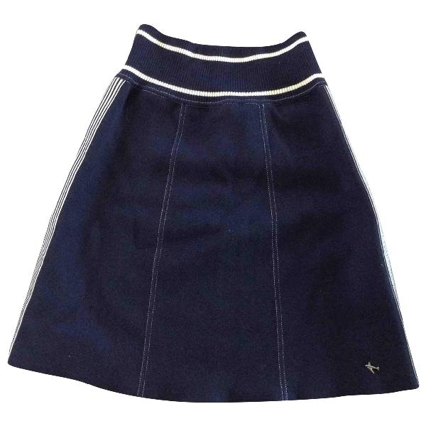 Chanel Blue Cotton Skirt