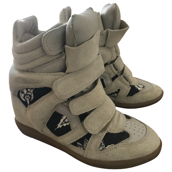Isabel Marant Willow Grey Suede Trainers