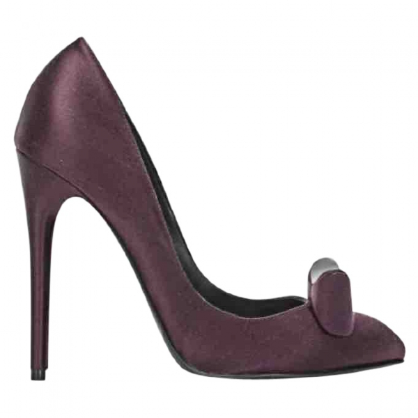 Nina Ricci Purple Cloth Heels