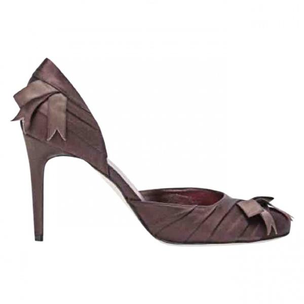 Nina Ricci Brown Cloth Heels