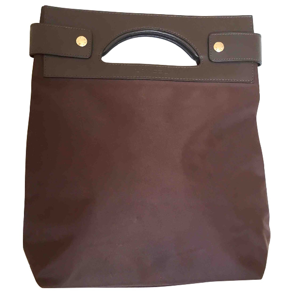 Lancel Brown Cloth Handbag