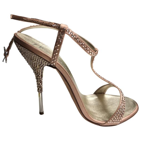 Giuseppe Zanotti Beige Leather Sandals