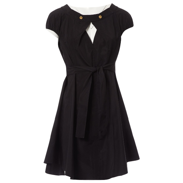Roland Mouret Black Cotton Dress