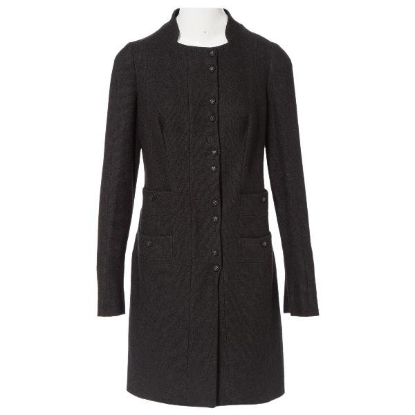 Versace Black Wool Coat