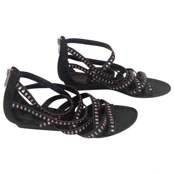 Sigerson Morrison Black Leather Sandals