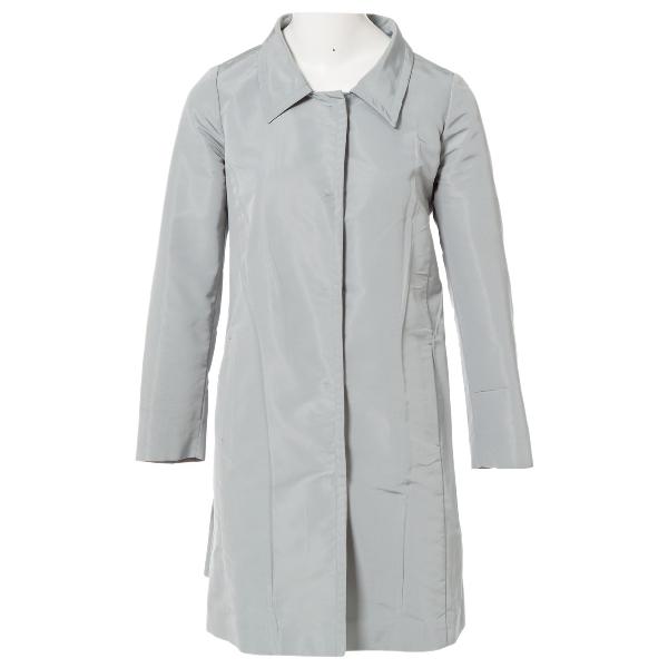 Prada Blue Silk Coat
