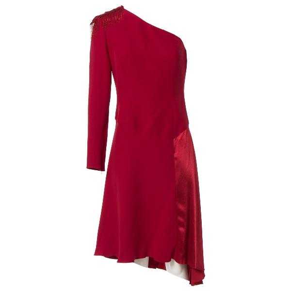 Versace Red Silk Dress