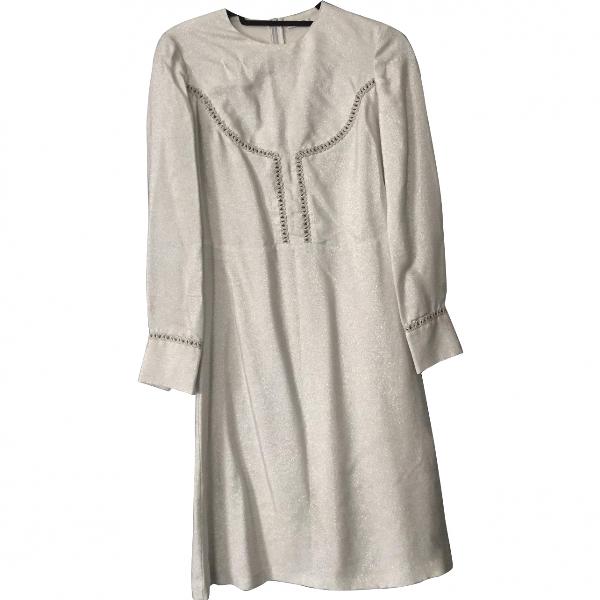Vilshenko Metallic Silk Dress